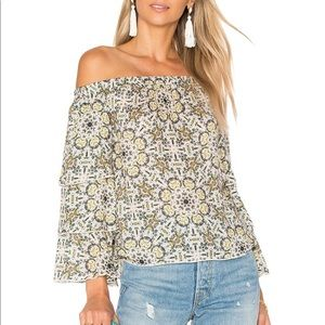 Ella Moss Minori Mosaic off shoulder top.  XS